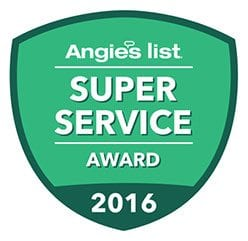2016 Angie's List Super Service Award to Rolling Garage Doors & Gates, Alta, CA.