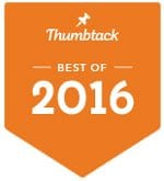 ThumbTack 2016 Best of Garage Door Services Award to Rolling Garage Doors & Gates, Alta, CA